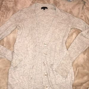 Heather Gray Sweater with Marble colored Buttons